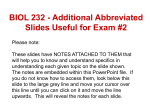 Supplemental Slides w/Notes for Exam #2