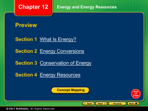 Section 1 What Is Energy?