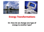 Energy Transformations - PLC-METS