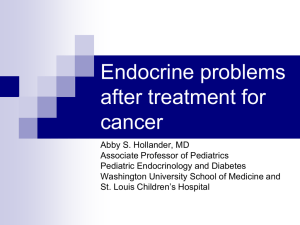 Endocrine problems after treatment for cancer