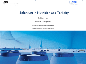 Selenium in Nutrition and Toxicology