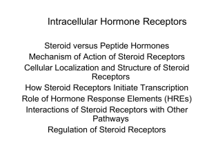 Mechanisms of Hormone Action: Steroid Receptors