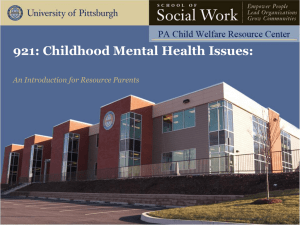 Childhood Mental Health Issues: An Introduction for Resource Parents
