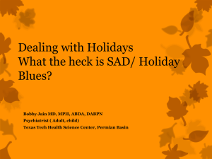 Holiday Blues- Dr. Bobby Jaine