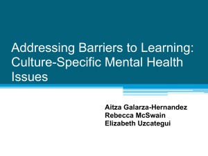 Addressing Barriers to Learning: Culture