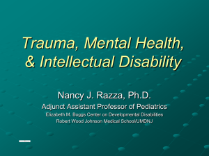 Psychopathology and Intellectual Disability