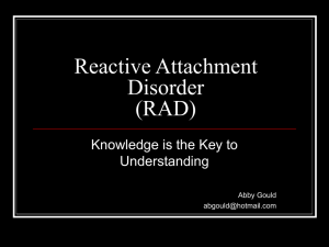 Reactive Attachment Disorder (RAD) - Home
