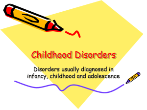 Childhood Disorders - Santa Barbara Therapist