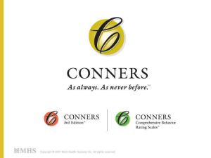 Using the Conners 3 and Conners CBRS