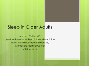 Sleep in Older Adults