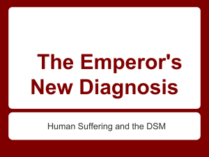 The Emperor's New Diagnosis