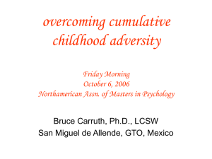 overcoming cumulative childhood adversity