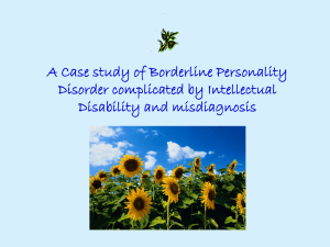 A Case Study of Borderline Personality