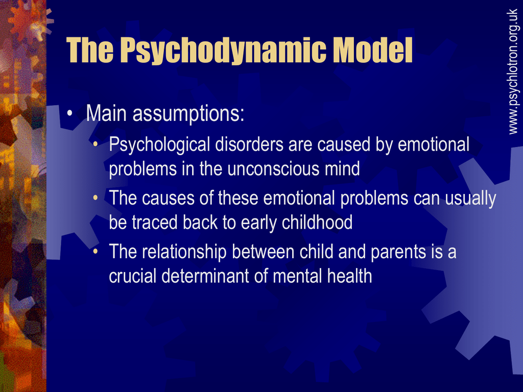 what is the psychodynamic model