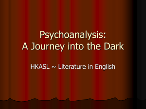 Psychoanalysis: A Journey into the Dark