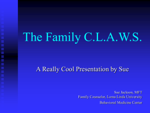 The Family Claws - California Society of Addiction Medicine