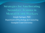 Strategies for Ameliorating Secondary Trauma in Mental