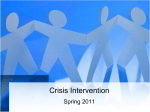 Crisis Intervention - NURSING FDTC Batch Spring 2011