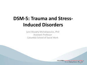 DSM-5: Trauma and Stress