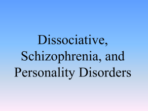 abnormal dissociative and schizophrenia