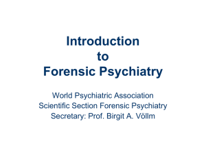 WPA forensic slides short - World Psychiatric Association