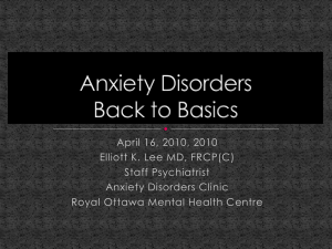 Anxiety Disorders 2010