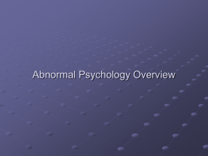 Abnormal Psychology Overview