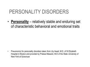 personality disorders - People Server at UNCW