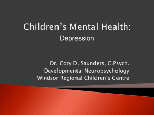 Children`s Mental Health Presentation on Depression