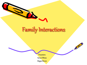 Family Interactions - SUNY Cortland