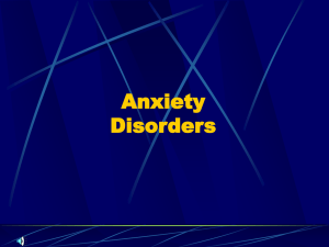 Anxiety Disorders - Northwest ISD Moodle