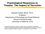 Psychological Responses to Trauma