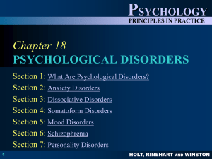 chapter 18 psychological disorders