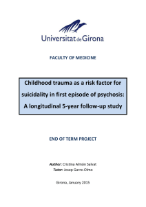 Childhood trauma as a risk factor for