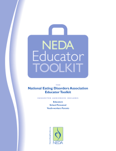 Educator TOOLKIT NEDA