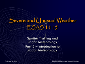 Severe and Unusual Weather ESAS 1115