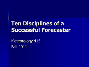 Ten Discplines of a Successful Forecaster