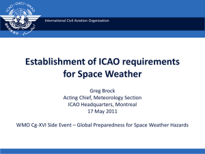 Evolution of ICAO requirements for Space Weather