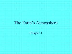 The Earth`s Atmosphere