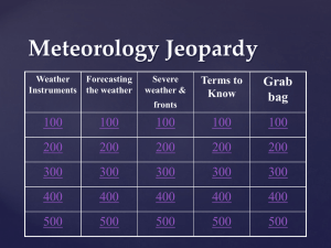 Meteorology Jeopardy Review