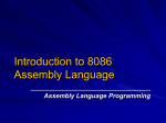 Introduction to 8086 Assembly Language