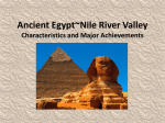 Ancient Egypt Nile River Valley KEY 2013