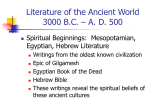 PPT on Literature of the Ancient World