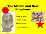 The Middle and New Kingdoms