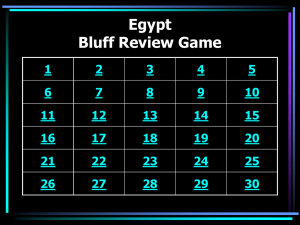 Egypt Bluff Game
