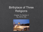 Birthplace of Three Religions