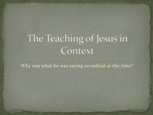 The Teaching of Jesus in Context
