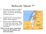 Bellwork: March 7th