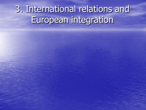 3. International relations and European integration