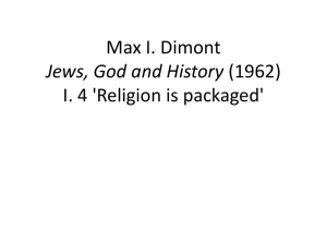 Max I. Dimont Jews, God and History (1962) I. 4
